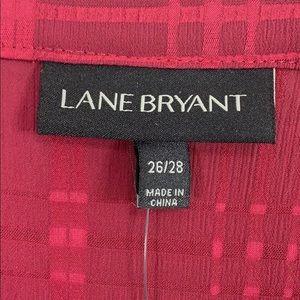 Lane Bryant Tops - NEW Lane Bryant top 26/28 peplum hem maroon wine